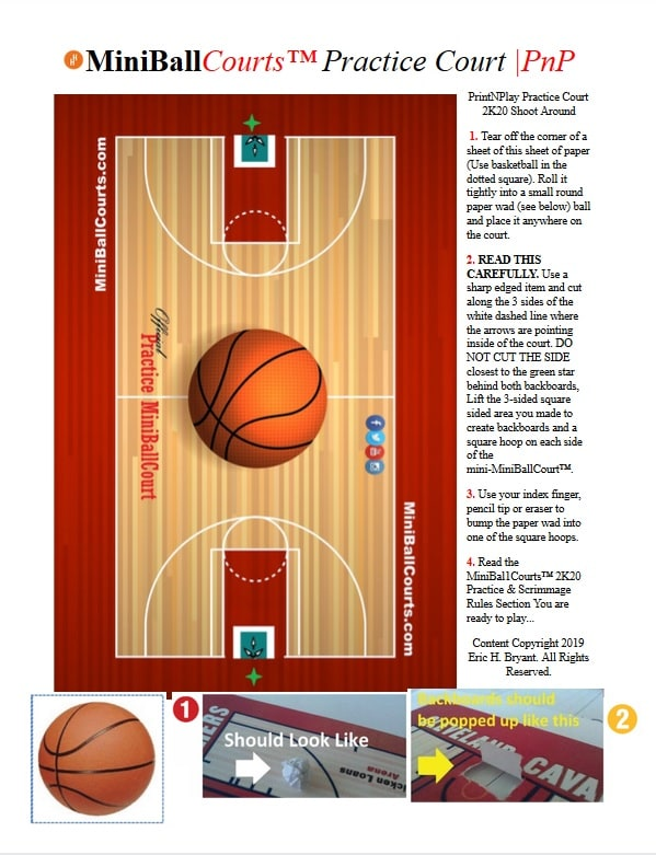 Printable NBA Courts All The Rage For Playoffs